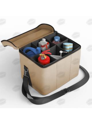 Автомобильная сумка в багажник. Цвет бежевый