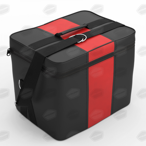 Автомобильная сумка в багажник. Цвет чёрный с красным