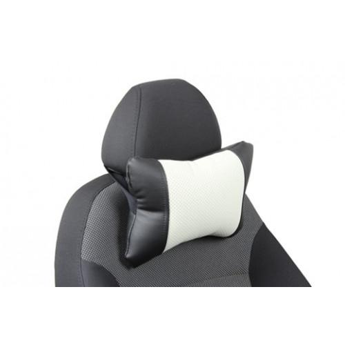 Автоподушка под шею цвет чёрный с белым
