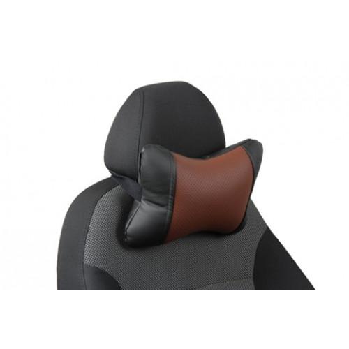 Автоподушка под шею цвет чёрный с коричневым