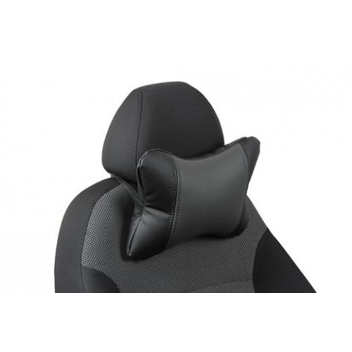 Автоподушка под шею цвет чёрный с серым