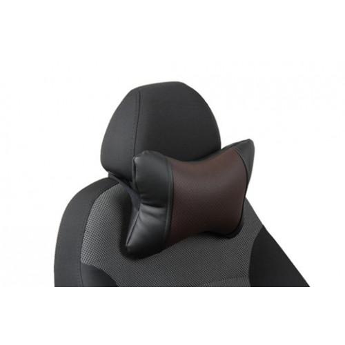 Автоподушка под шею цвет чёрный с шоколадом