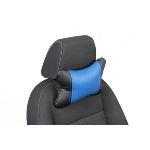 Автоподушка под шею цвет чёрный с синим
