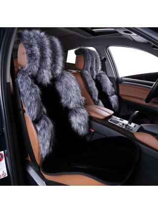 Накидка на сиденье автомобиля из искусственного меха. Фасон (ЛИСА)