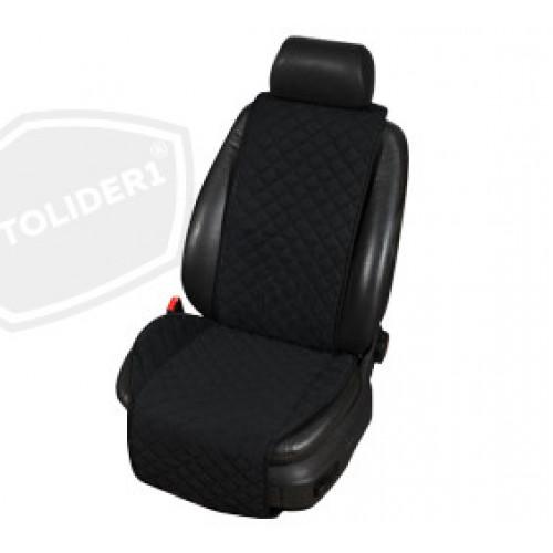 Накидка на сиденья автомобиля из алькантары чёрного цвета