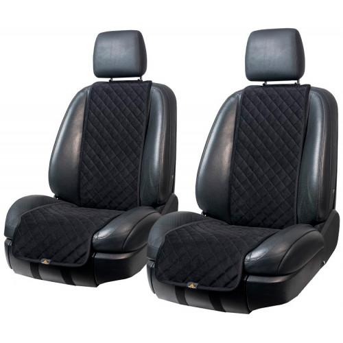 Накидки на сиденья автомобиля из алькантары чёрного цвета фирма Трокот