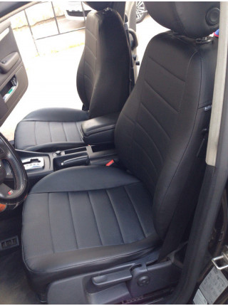 Модельные авточехлы для Audi A4 B6/B7 из экокожи Premium, черный