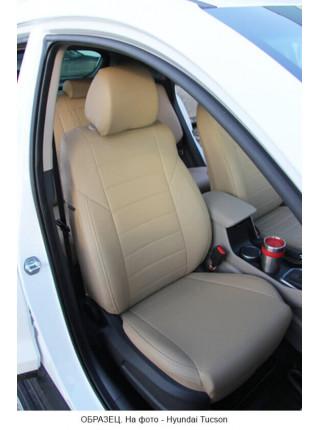 Модельные авточехлы для Audi Q-7 из экокожи Premium, бежевый