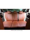 Модельные авточехлы для Audi Q-7 из экокожи Premium, коричневый