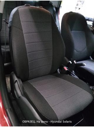 Модельные авточехлы для Audi A4 B6/B7 (2000-2007) из экокожи Premium и ткань жаккард (гобелен)