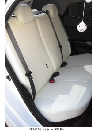 Модельные авточехлы для Audi A6 C7 (2011-2018) из экокожи Premium, белый