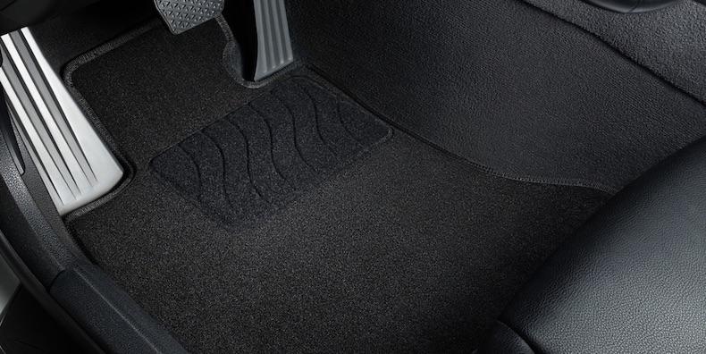 Ворсовый коврик Люкс с усиленной зоной для ног водителя