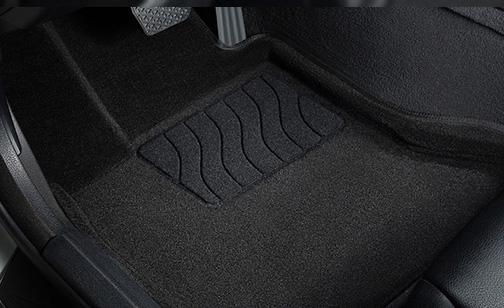 коврики 3D ворсовые передние водительское с подпятником